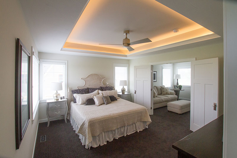 bedroom lighting installation