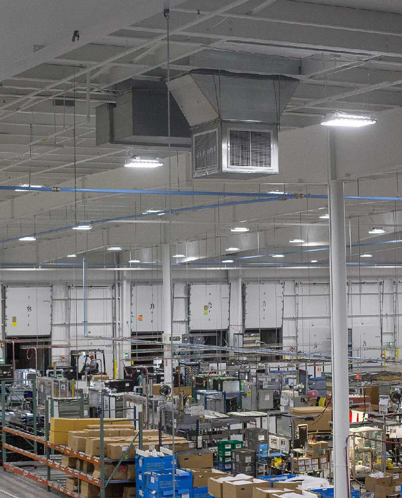 industrial lighting installation